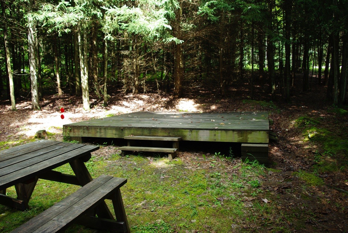Kingswood Campsite Spruce I - Spruce picnic table